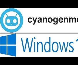Dual boot Cyanogen and Windows