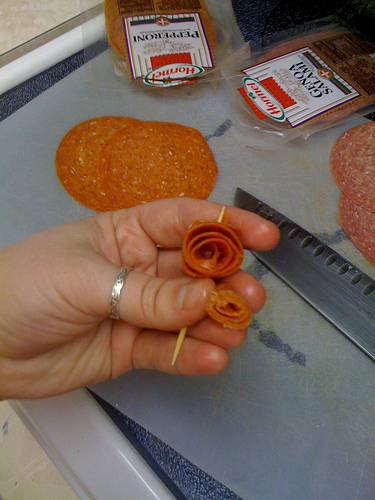 Picture of Make the Pepperoni Roses