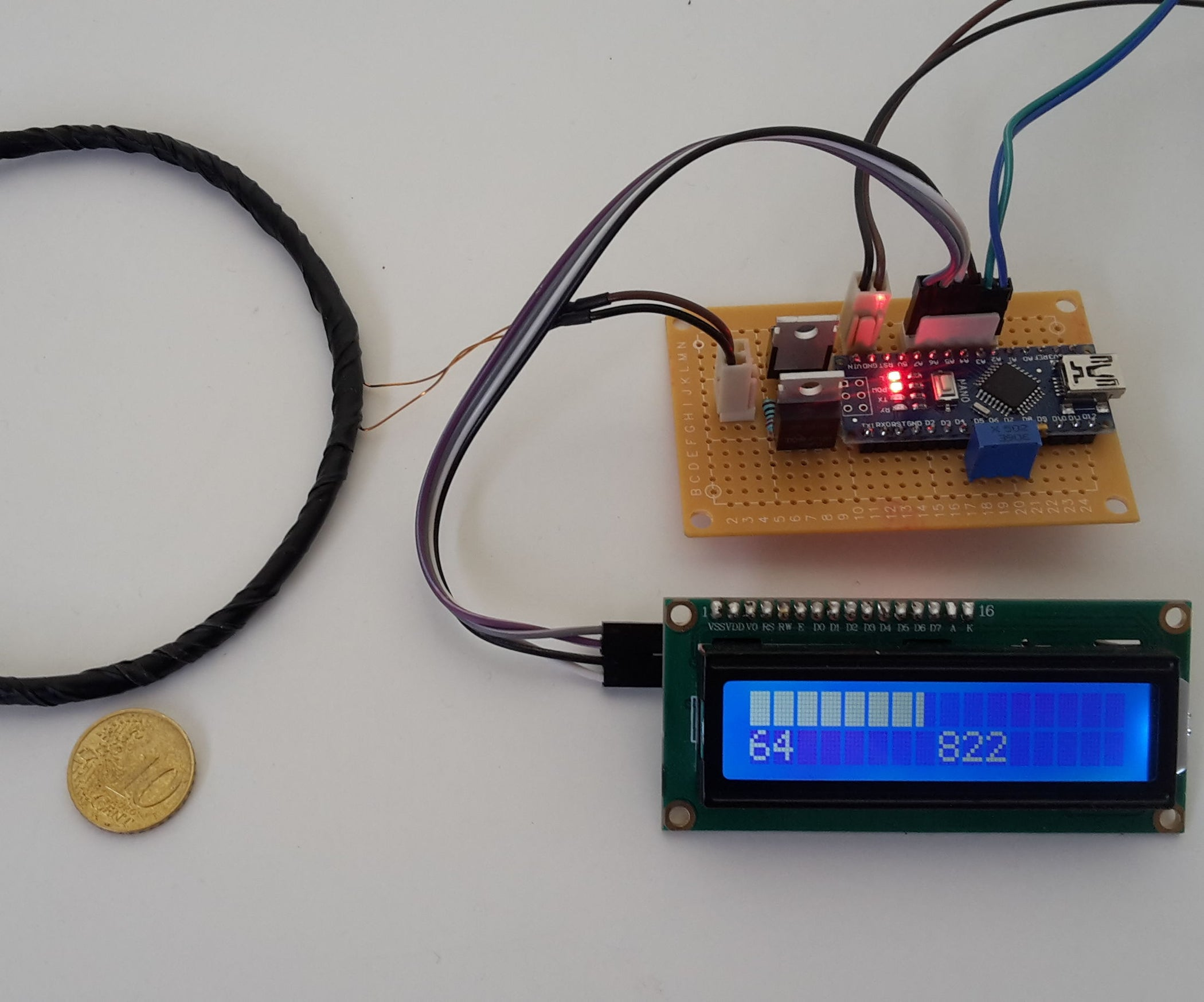 Arduino Based Pulse Induction Detector Flip Coil 5 Steps With Wiring Diagrams Wire Setup Contacts Open 2 Unidirectional Pictures