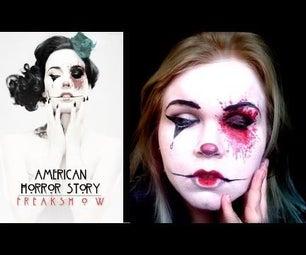 American Horror Story Freakshow Makeup Transformation