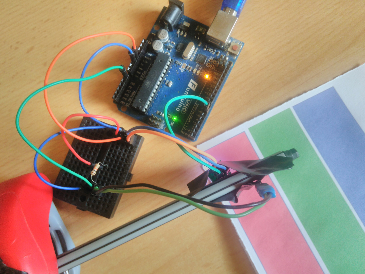 Picture of Arduino Color Detector Based on Ws2812b RGB Diode