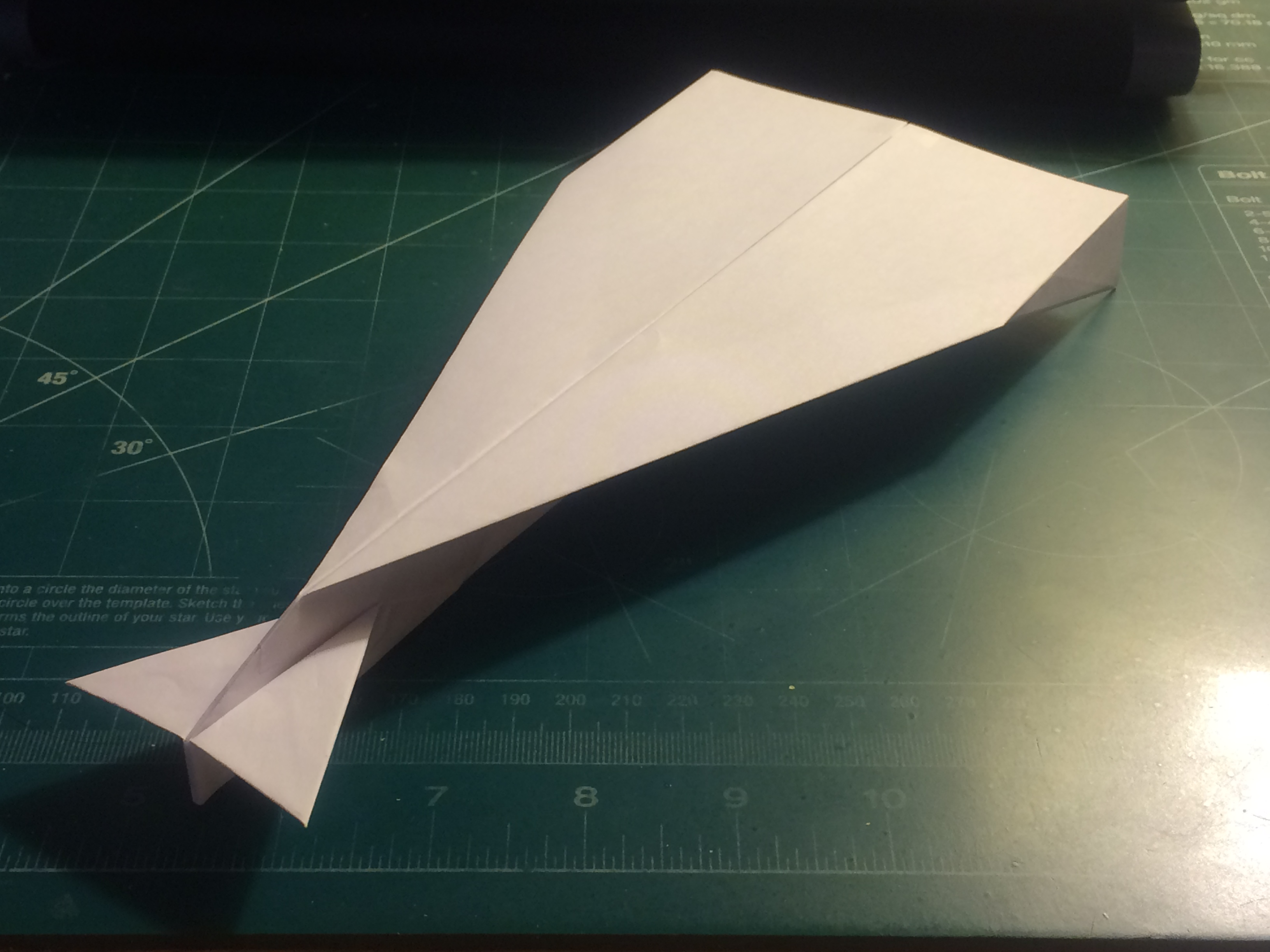 Picture of How to Make the StratoDagger Paper Airplane