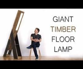 Giant Reclaimed Timber LED Floor Lamp W/ Music Reactive LEDs
