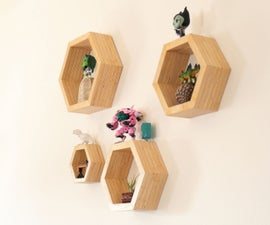How to Make Plywood Hexagon Shelves