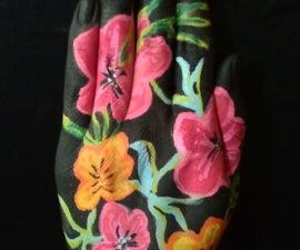 Hawaiian Floral Hand Art