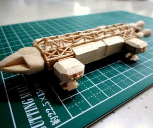 Mini Space 1999 Eagle Popsicle Stick Model