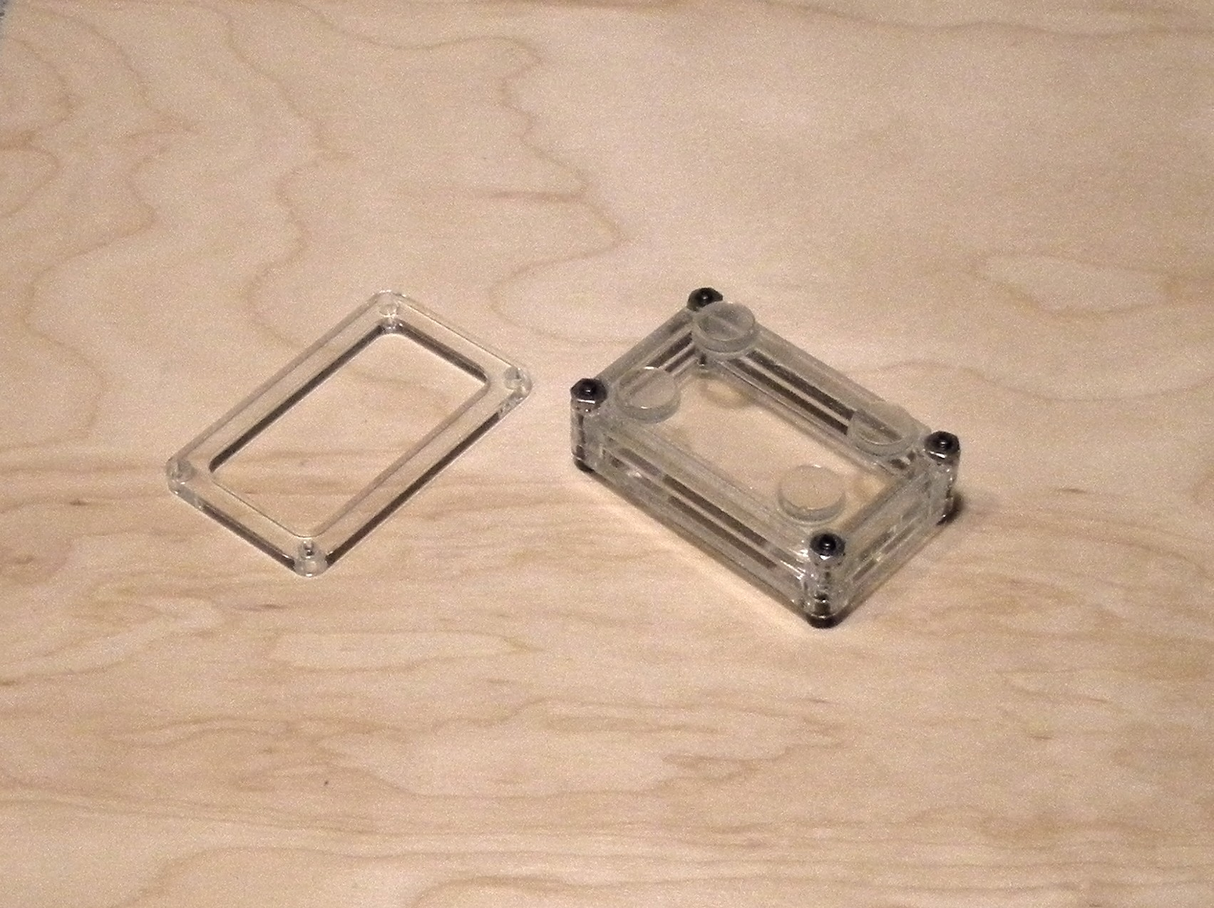 Picture of Stacked Plexiglass Enclosure Case Using OpenSCAD