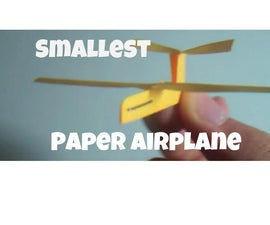 How to Make the World's Smallest Paper Airplane!
