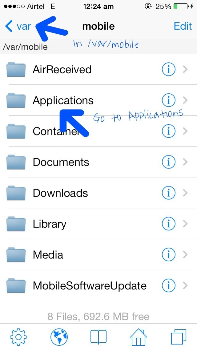 Picture of Locating the App Folder