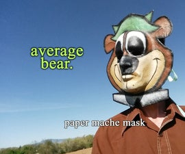 Average Bear Paper Mache Mask