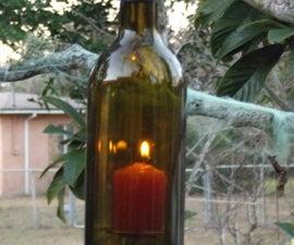 Wine bottle hanging lantern