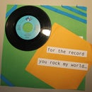 Handmade Valentines Card Using an Old 45 Record