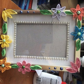How to Make a Quilled Photo Frame