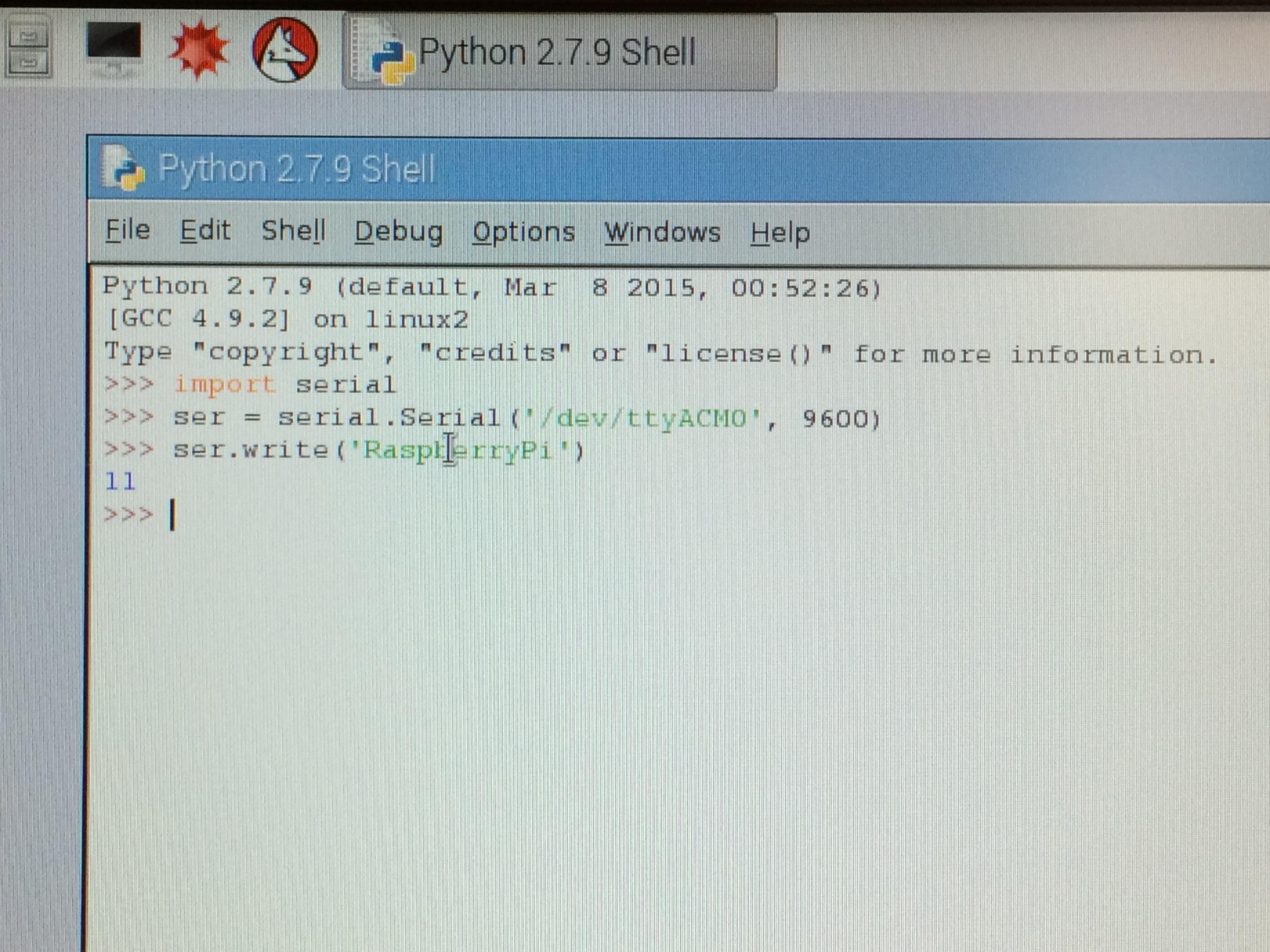Picture of Raspberry Pi -> Arduino Programming