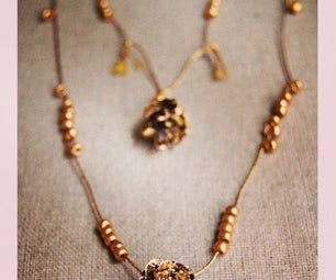 Pinecone Necklace Jewelry