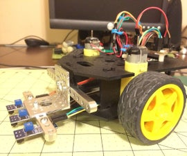 Simple Line follower robot using a Actobotics Runt Rover Sprout