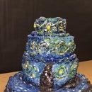 Clay/Paper Mache' Van Gogh's Starry Night Cake