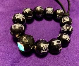 Black Panther Kimoyo Bead Bracelet With Light Up Prime Bead