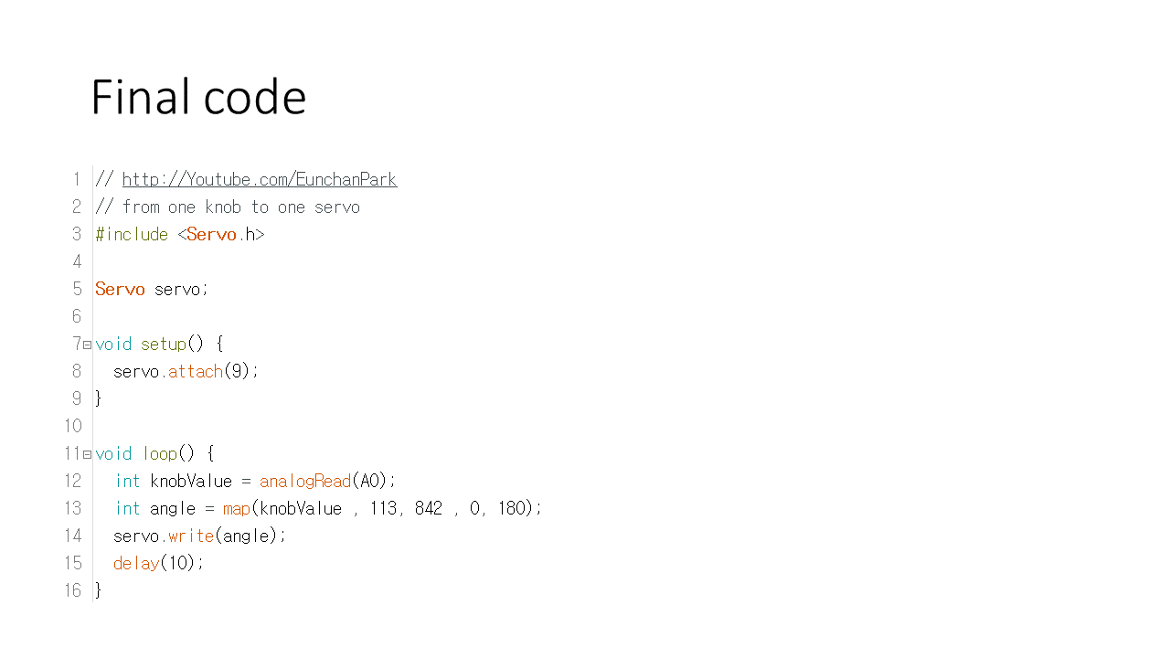 Picture of Final Code