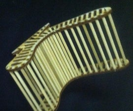 Wooden Ribbed Chair