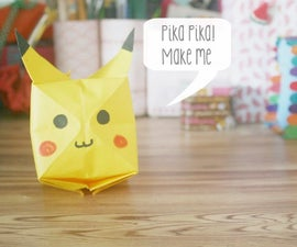 Origami Pikachu tutorial.