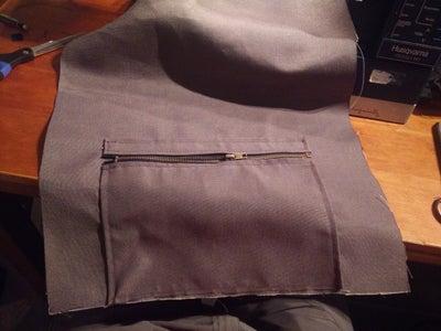 Main Flap and Zipped Pocket