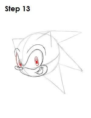 outline sonic the hedgehog head logo