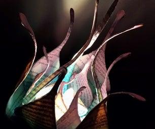 Wire Flower Lamp