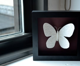 How to make a Framed Paper Butterfly