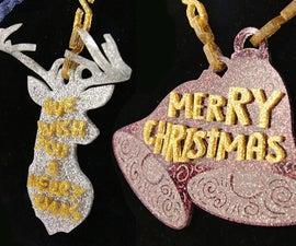 Glitter Acrylic Jewelry Necklace