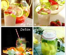 My favorite 4 Easy Homemade Detox Water Recipes
