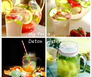 My Favorite 4 Easy Homemade Detox Water Recipes