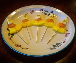 Halloween Candy Corn Fruit Stick