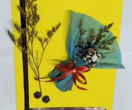 3D Paper Flower Greeting Card