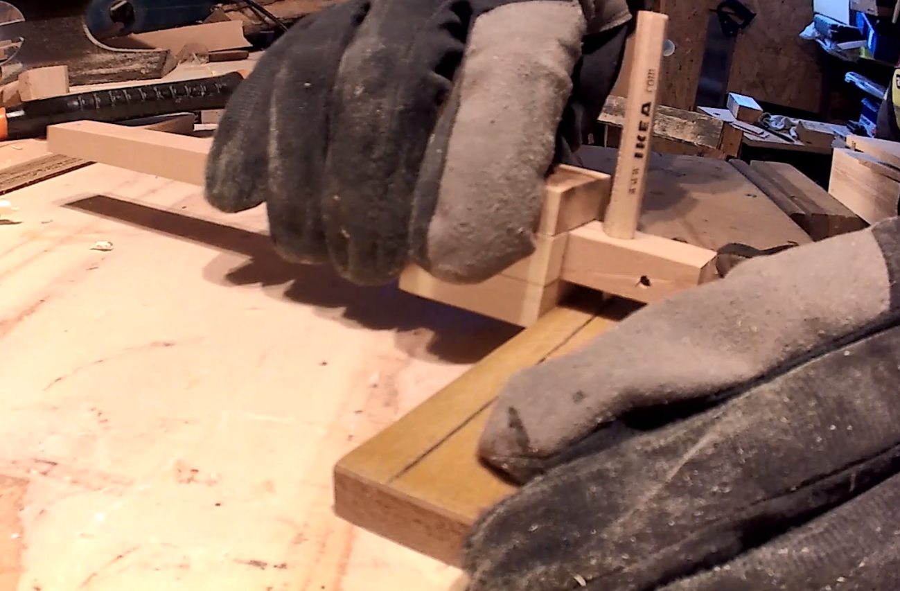 Picture of Preparing the Pieces and the Beam