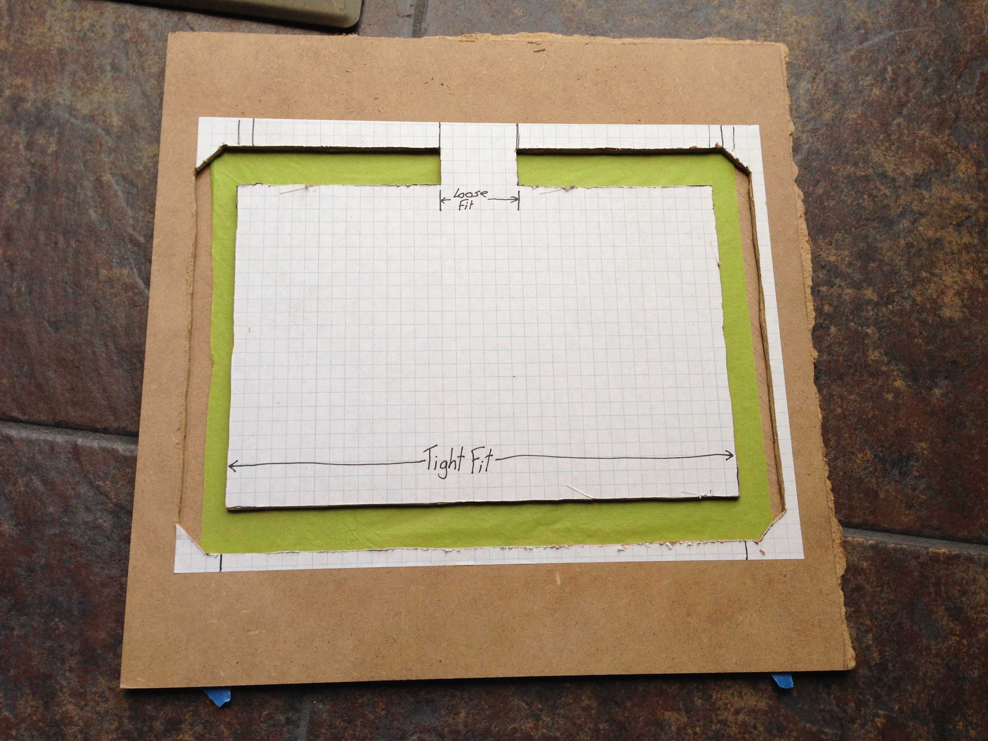 Picture of Center and Tape Tissue Paper on Glue Board