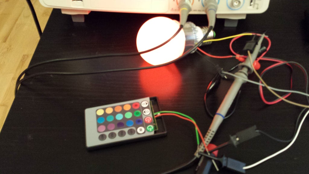 Reverse Engineering Rgb Led Bulb With Ir Remote 9 Steps With Pictures Instructables
