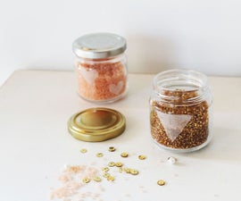 Etching glass jars