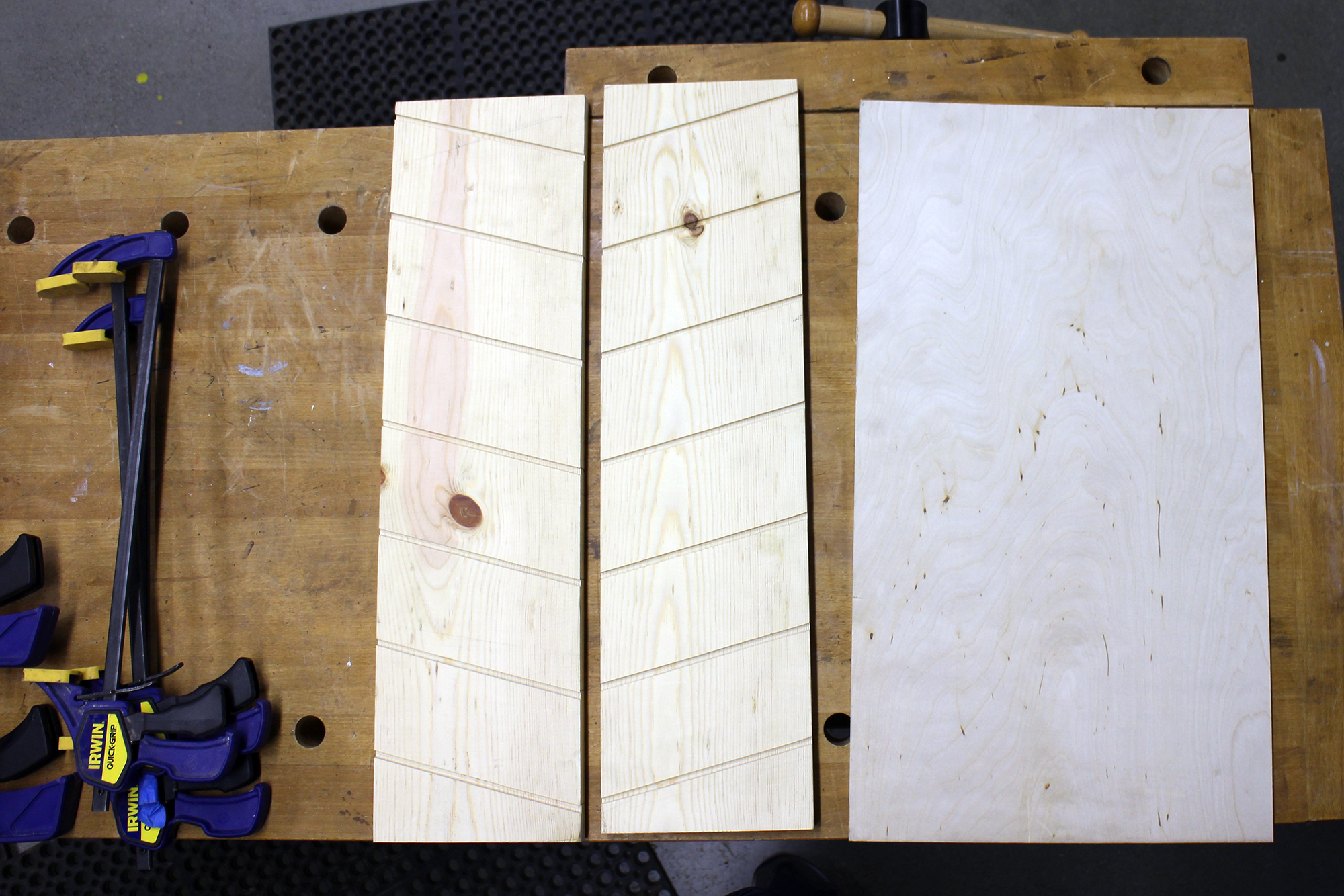 Picture of Glue on Shelves + Backing