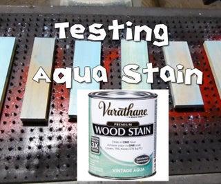 Testing Vintage Aqua Stain