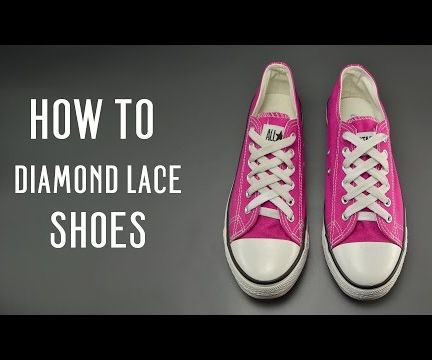 How to Diamond Lace Shoes Instructables