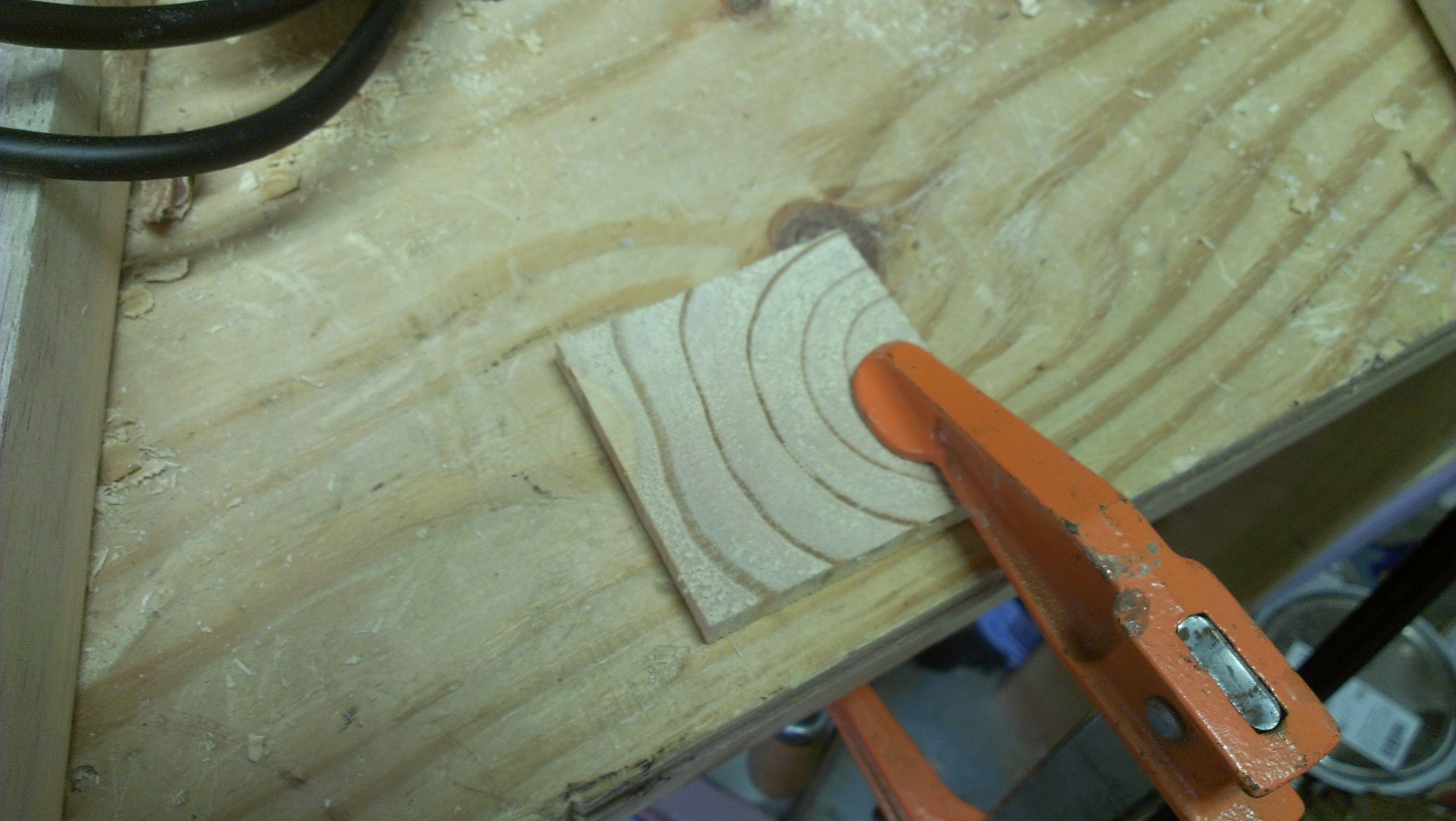 Picture of Grain Pattern Coaster. I Made It at Techshop