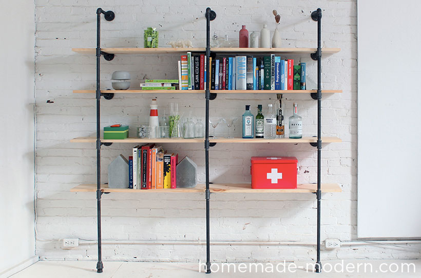 Picture of HomeMade Modern DIY Pipe Shelves