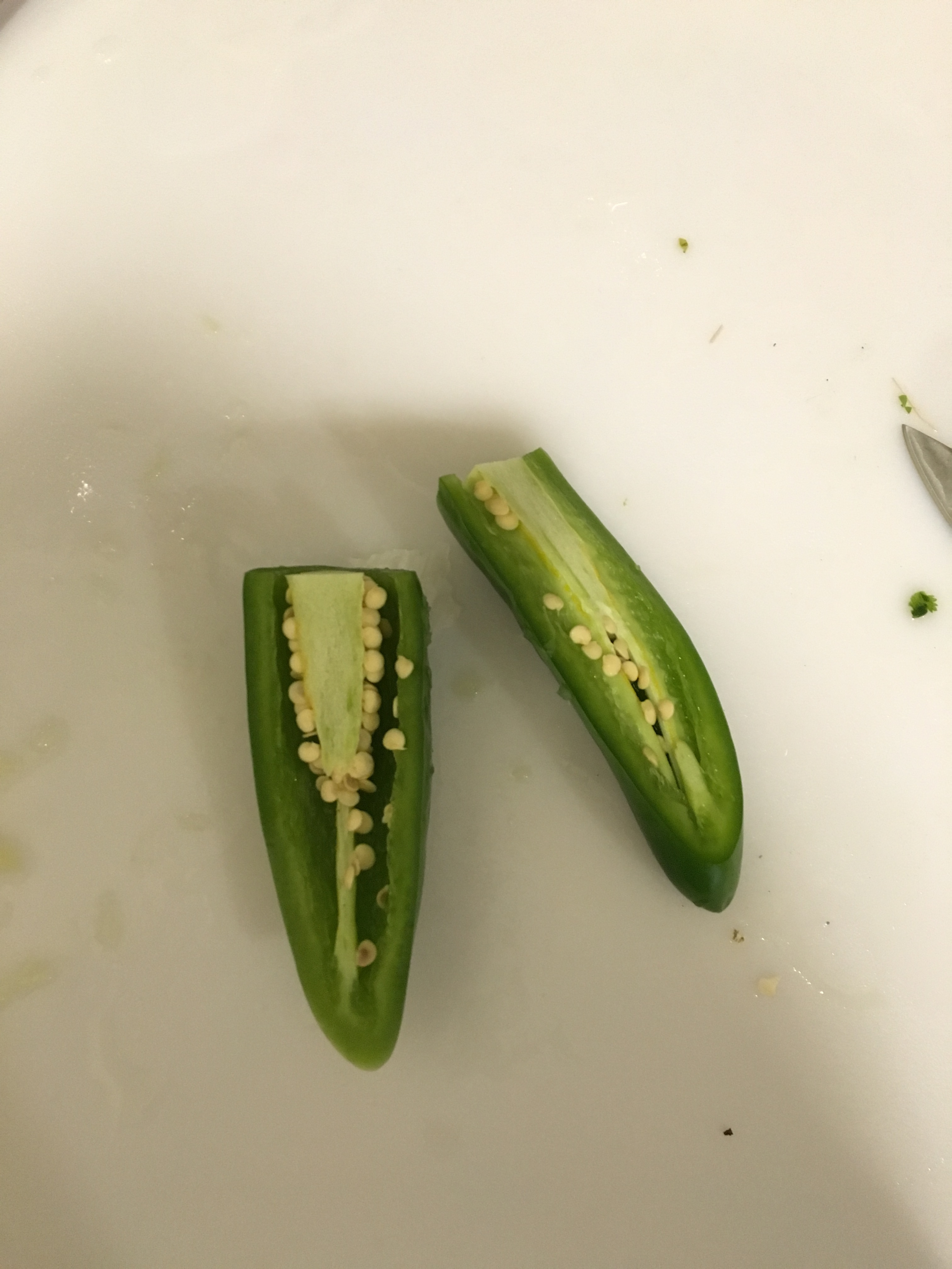 Picture of Rinse, Cut and Seed the Jalapeño