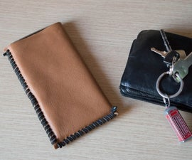 Simple Leather Phone Sleeve Made Out of Leather Samples