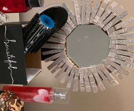 Clothespin Mirror and Vanity Holder