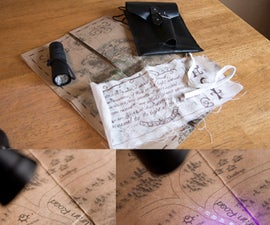 Custom Marauder's Map Variation With Disappearing Footprints
