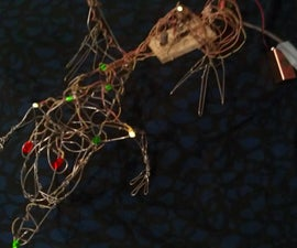LED Blinky Wire Sculpture