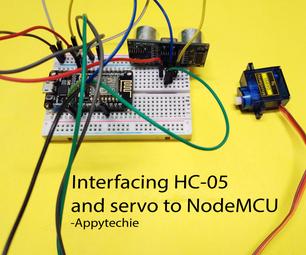 Ultrasonic Sensor Controlled Servo in NodeMCU