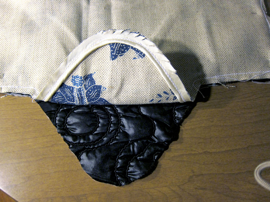 Picture of Sewing Lining to Outer Fabric